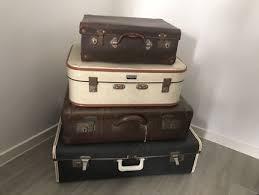vintage luggage. 4 vintage suitcases luggage