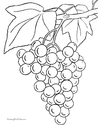 Small Picture Grapes coloring page to print and color Coloring Pages For Kids