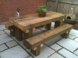 garden dining table with benches. lovable patio table bench 25 best ideas about on pinterest diy garden dining with benches