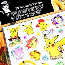 Shnapign Pokemon Go детский временный боди арт флэш тату стикер 1017 см водонепроницаемый