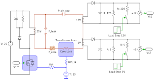 plecs plexim circuit using electrical magnetic and thermal s
