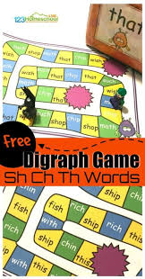 Printable phonics worksheets for teachers, parents, tutors, and homeschoolers to use with their students. Ch Sh Th Digraph Games