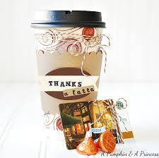 thanks a latte gift idea