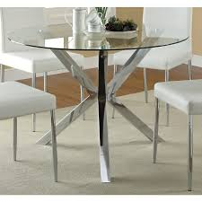 Glass top dining tables Rectangle Glass Coaster Company Chrome Glass Top Dining Table Overstock Shop Coaster Company Chrome Glass Top Dining Table On Sale Free