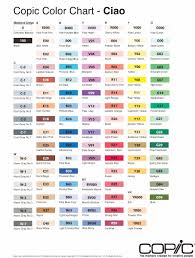 copic ciao color chart copic ciao double ended marker pens colour chart