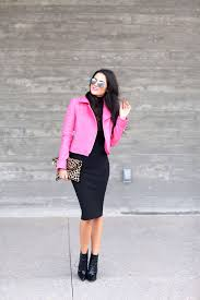 hot pink jbrand leather jacket