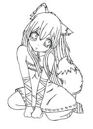 Anime Fox Coloring Page 18 Best Photos Of Pages Cute Chibi Cat