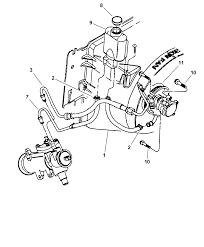 1997 jeep wrangler power steering hoses and reservoir thumbnail 1