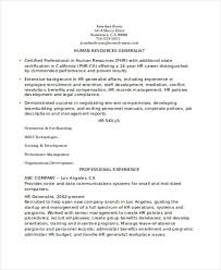 Experienced HR Resume Format Template