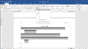 Microsoft Word 2016 Creating A Works Cited Page