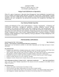 hedge fund resume resume d ct i new hedge fund operations resume sample