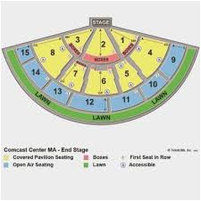 Xfinity Theater Seating Chart With Seat Numbers Xfinity Center Mansfield Ma Seating Chart With Seat Numbers
