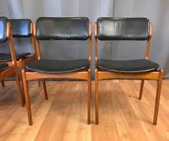leather dining chairs awesome set of six erik buch for o d m bler od 49