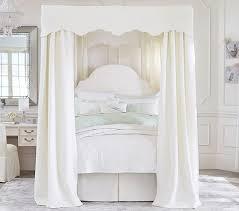 White Full Canopy Bed