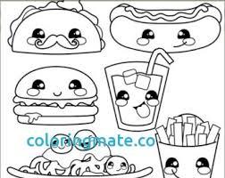 Homely Idea Cute Food Coloring Sheets Seatle Davidjoel Co Printable