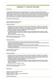 Sample Admiralty Lawyer Resume
