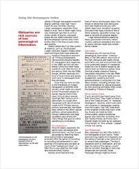 Vintage Newspaper Template Free Sample Vintage Newspaper 5 Documents In Pdf