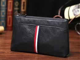 men bag split leather business clutch bags zipper male stripe handbag pack vintage card holders multifunctional storage bags ba248 office bags women wallet