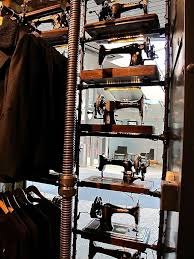 Clothing Store With Singer Sewing Machines