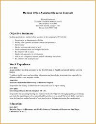 Sample Resume For Office Assistant Position Sample Resume For Front Office Medical Assistant Resume