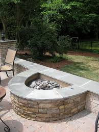 Stacked Stone Fire Pit half circle stacked stone firepit fireplaces and firepits 5146 by uwakikaiketsu.us