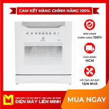 TRẢ GÓP 0% - Máy rửa chén mini Electrolux ESF6010BW 1480W 8 bô chén Rửa  nước nóng Chức năng rửa nhanh Cửa máy bằng kính cho phép theo dõi quá trình  rửa