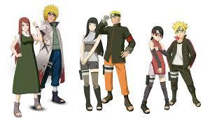 Minato Kushina Naruto Hinata Boruto Sarada Render by weissdrum on DeviantArt