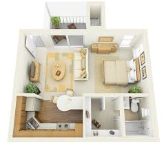Excellent Modern Studio Apartment Layout Plan Showing Open Floor - Modern studio apartment design layouts