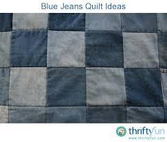 Blue Jeans Quilt Ideas   ThriftyFun &  Adamdwight.com