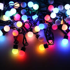Decorative String Balls Stunning 32 Metre Colour Changing RGB LED String Lights With Decorative