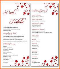 Stylish Microsoft Word Wedding Program Template Free