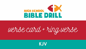 * kjv bible passages sung to beautiful music. Resource High School Bible Drill Verse Card And Ring Verse Kjv Blue Cycle Baptist State Convention Of North Carolina