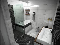 ... Stunning Ideas For Small Bathroom Design : Creative Black White Tile  Small Bathroom Design Using Porcelain ...