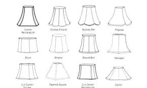 Lamp Shade Size For Base Sizes Chart Adjuster Charming
