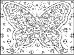 Small Picture a very complicated butterfly doodle art coloring page for adults