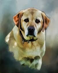 dog painting of lab