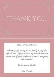 thank you card examples funeral thank you notes wording sympathy thank you note examples