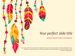 Pptx Themes Boho Style Powerpoint Template Backgrounds 15579