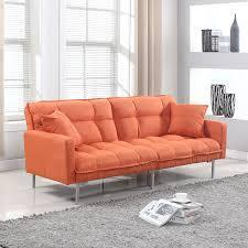 Orange Living Room Furniture Amazoncom Divano Roma Furniture Collection Modern Plush Tufted