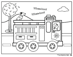Fire Truck Coloring Page Free Fire Truck Coloring Page Coloring