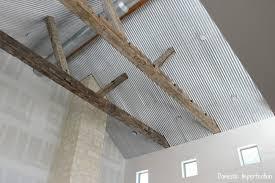metal ceiling progress
