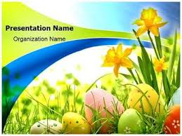 Easter Eggs Flowers Powerpoint Template Is One Of The Best