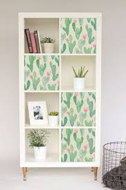 Decals For Ikea Kallax Expedit Cactus Stickers Pastel Nursery Ikea Hack Furniture Decal Repositionable Covering Color Diy 3ka