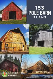 153 pole barn plans and designs that