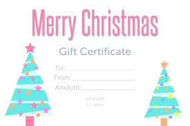 Gift Voucher Free Template Gift Certificate Template Word Blank Templates For Free Christmas
