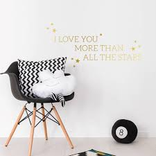 i love you more than all the stars wall decal sticker by sirface inspiration of silver