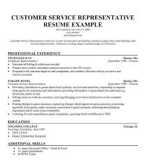 Resume Templates For Customer Service Representatives Customer Service  Resume Samples Free Best Business Template Download