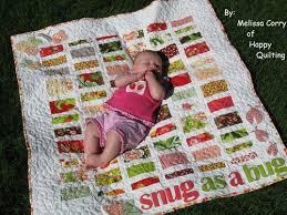 Snug as a Bug Baby Quilt - Free Quilt Pattern & Free Quilt Pattern and Tutorial - Snug as a Bug Baby Quilt Adamdwight.com