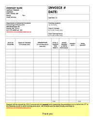 Personal Invoices Training Invoice Template Design For Personal Trainer Or Fitness