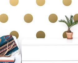 large polka dot wall decals gold